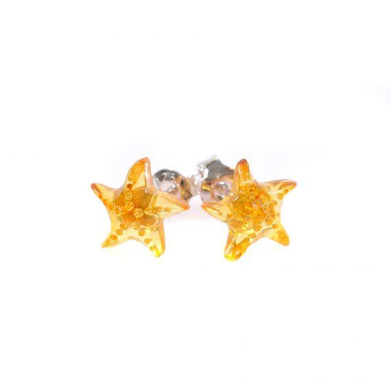 Малки звездички обички кехлибар