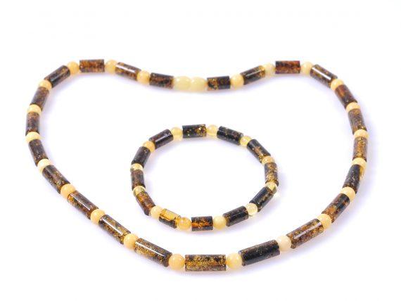 Луксозен комплект кехлибарени цилиндри